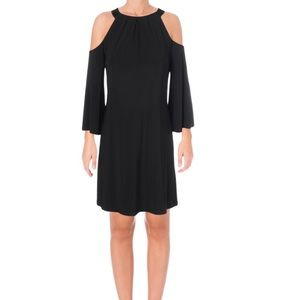 NWT Lauren Ralph Lauren Black A-Line Dress Sz 6